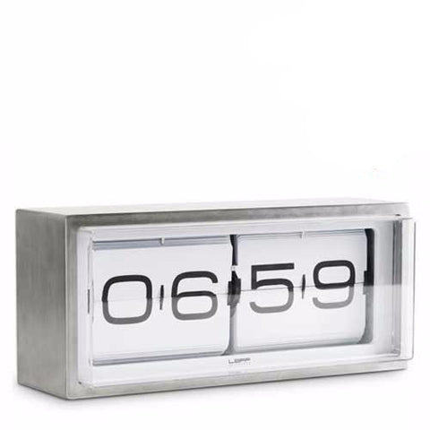 leff-brick-table-flip-clock-24-hour-white