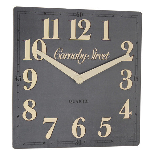 london-clock-company-retro-carnaby-street-grey-wall-clock-30cm