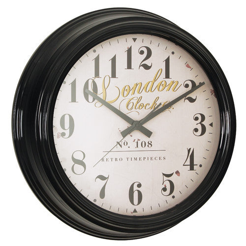 london-clock-company-retro-deep-case-black-wall-clock-30cm