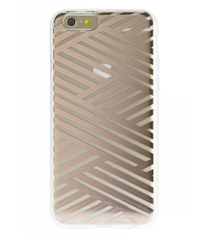 Sonix Clear Coat for iPhone 6/6S - Criss Cross Rose Gold