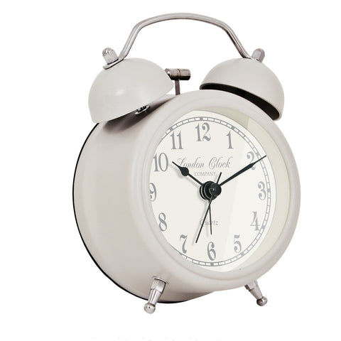 Alarm Clock - Charlotte Soft Grey 8.5cm - London Clock Company