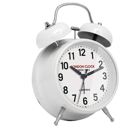 Alarm Clock - Belle White 17cm - London Clock Company