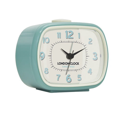 Alarm Clock - GEO Duck Egg Blue 8.5cm - London Clock Company