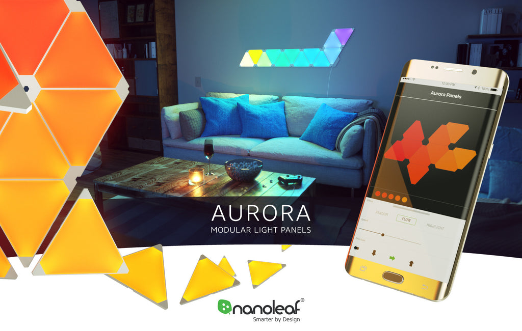 Nanoleaf Aurora Modular Lighting 9 Panels Smarter Kit