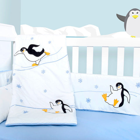 Baby Bedding Set - Penguin Winter Olympics