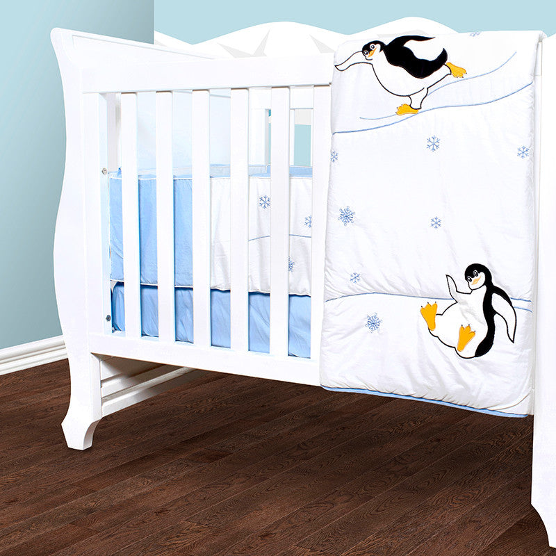 Baby Quilt Set - Penguin Winter Olympics