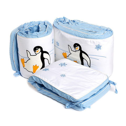 Baby Bumper Set - Penguin Winter Olympics