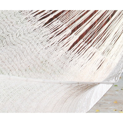 Cream Queen Size Cotton Hammock by Mayan Legacy