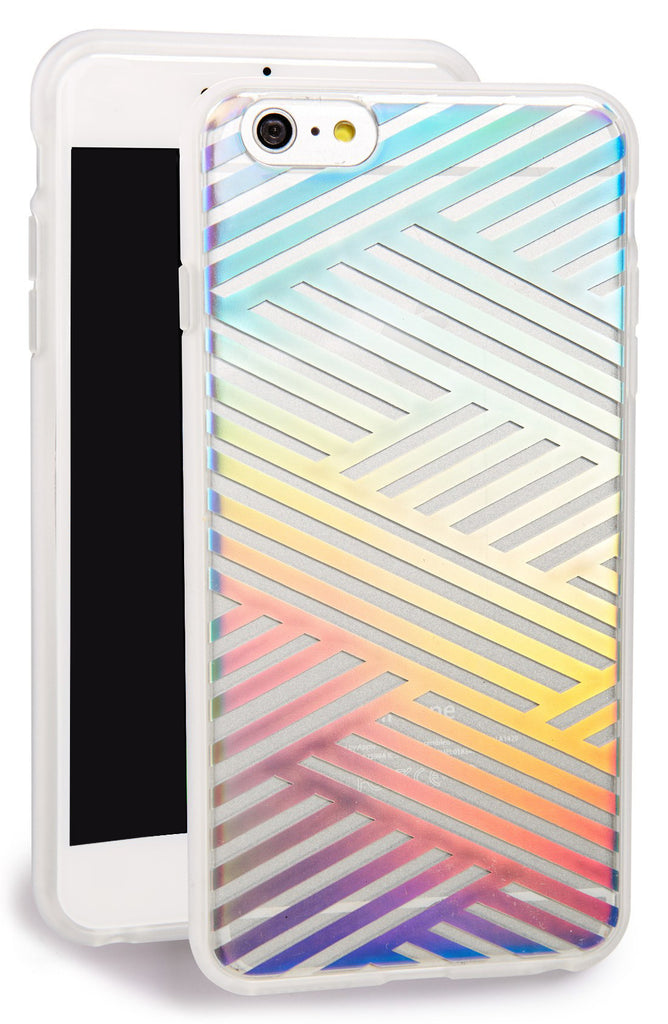 Sonix Clear Coat for iPhone 6/S Plus - Criss Cross Rainbow