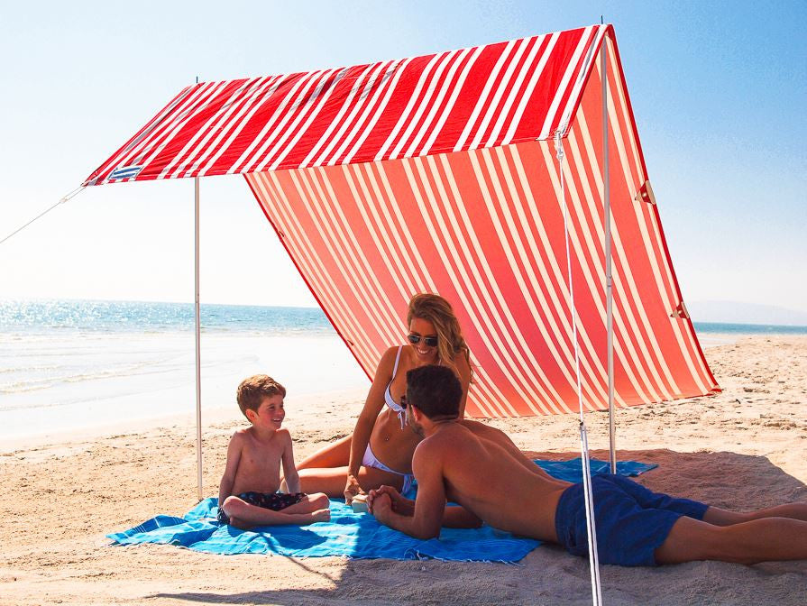 Hollie & Harrie Sombrilla Beach Shade - French Stripe Red