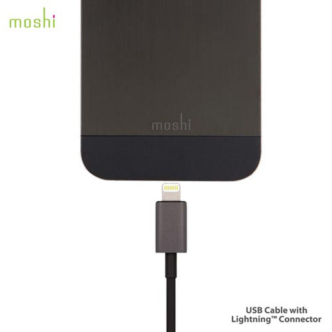 Moshi USB Cable with Lightning Connector - 1m Black