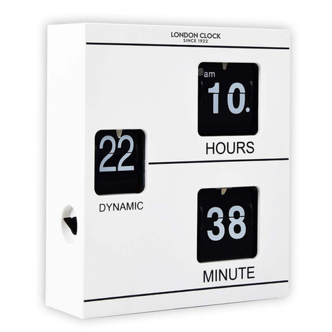 Wall Clock - Klikk Digital Flip 19cm - London Clock Company
