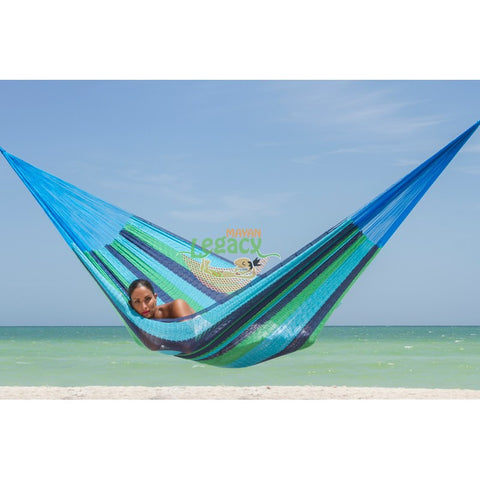 OCEANIA QUEEN SIZE COTTON HAMMOCK BY MAYAN LEGACY
