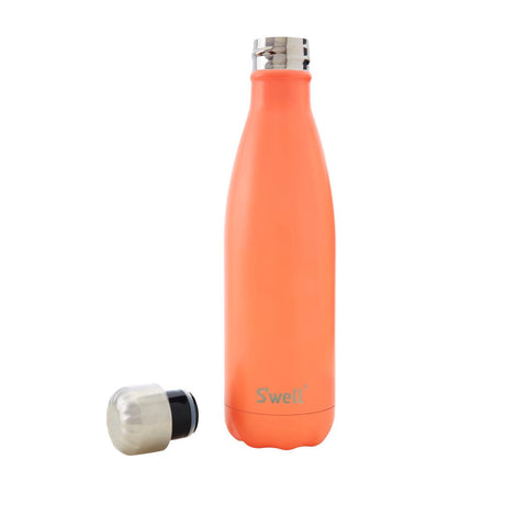 Swell Satin Stainless Steel Insulated Drink Bottle 500ml - Birds of Paradise