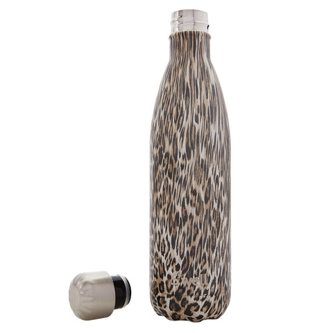 Swell Textile Stainless Steel Insulated Drink Bottle 500ml - Khaki Cheetah