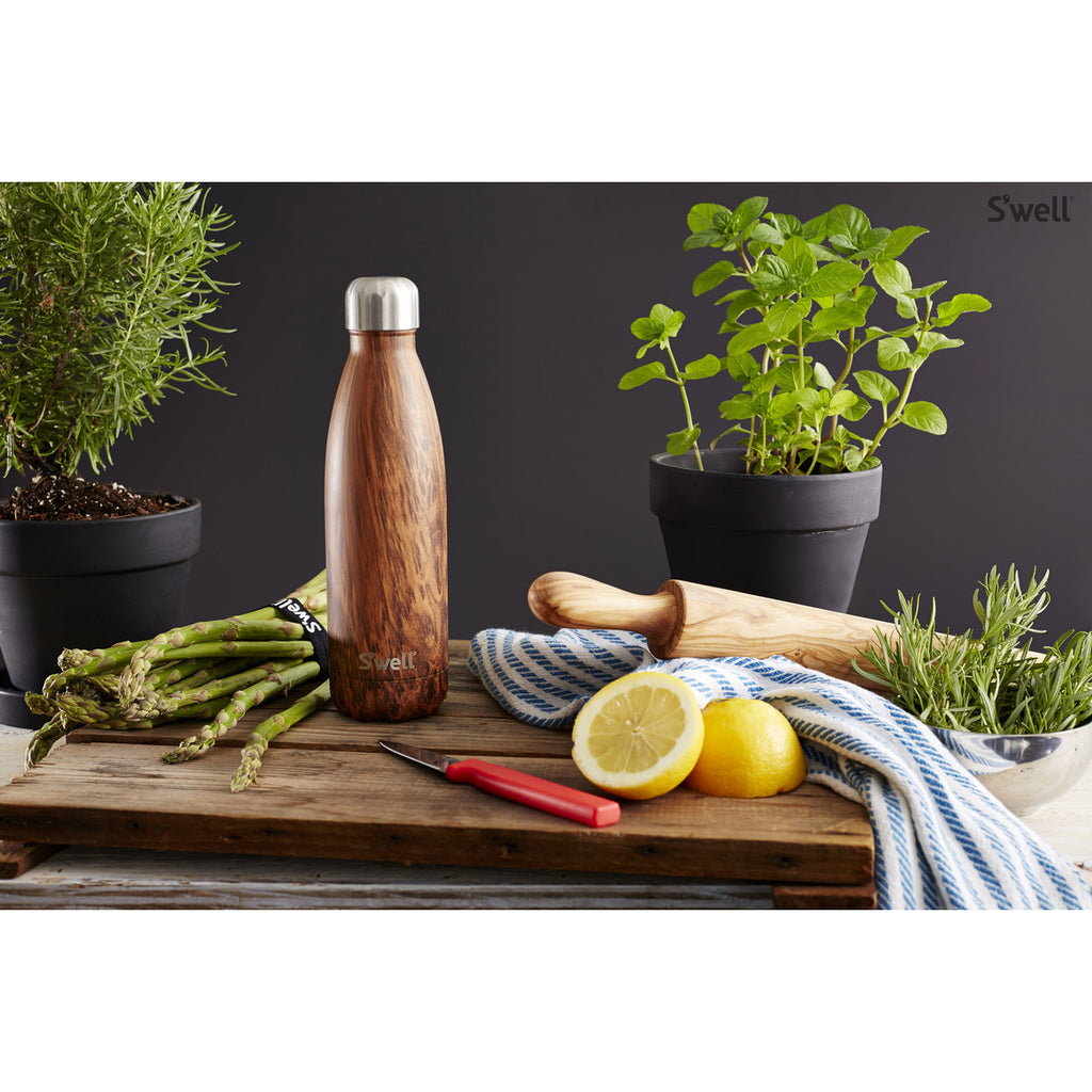 Swell Textile Stainless Steel Insulated Drink Bottle 500ml - Teakwood