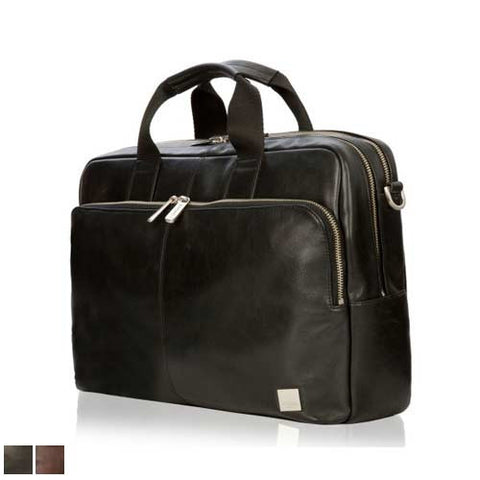 Knomo Amesbury Double Leather Zip Briefcase
