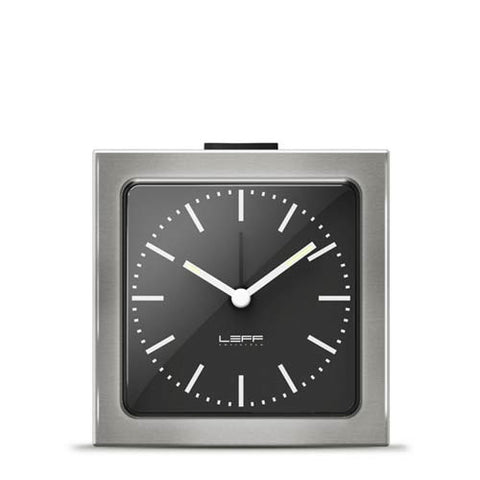 Alarm Clock - Block Clock Black - Leff