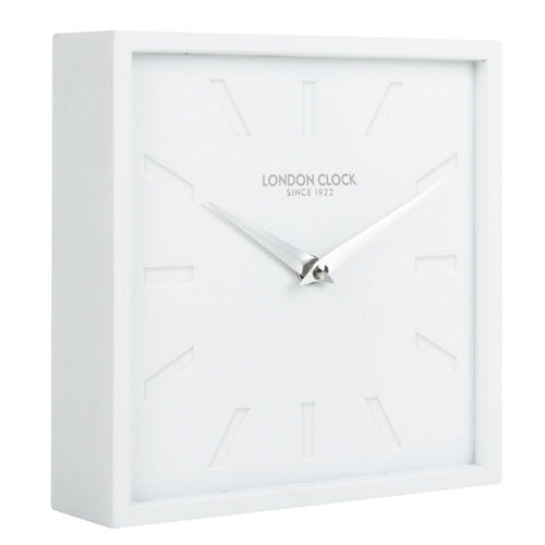 Mantel Clock - Dyp White 18cm - London Clock Company