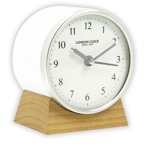 Alarm Clock - Forme White 25cm - London Clock Company