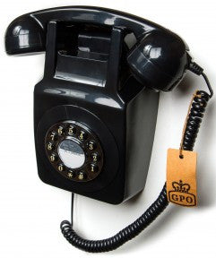 GPO 746 Wall Retro Telephone - Black