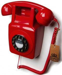 GPO 746 Wall Retro Telephone - Red