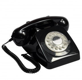 GPO 746 Rotary Telephone - Black