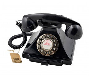 GPO Carrington Retro Telephone - Black