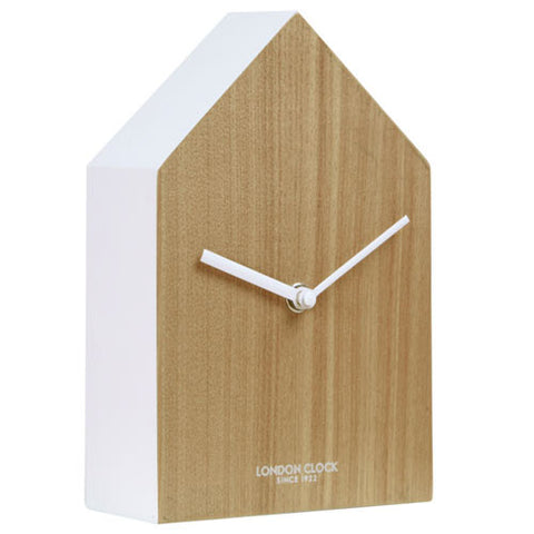 Mantel Clock - Hus Wood 20cm - London Clock Company