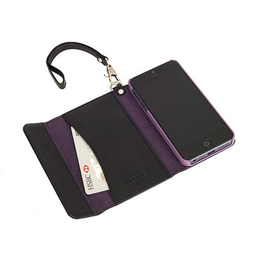 knomo-iphone-5-5s-leather-folio-wristlet-black