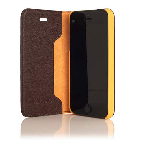 Knomo iPhone 5/5s/SE Leather Folio  - Brown