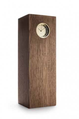 leff-tube-wood-clock-brass-oak