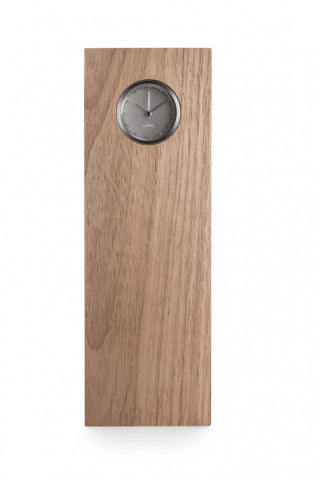 leff-tube-wood-clock-steel-hevea