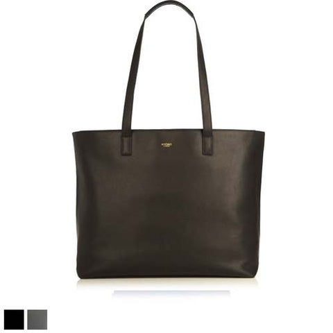Knomo Maddox Leather Zip Tote