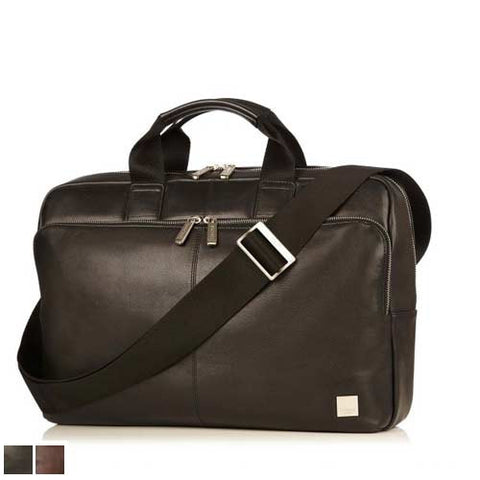 Knomo Newbury Leather Zip Briefcase