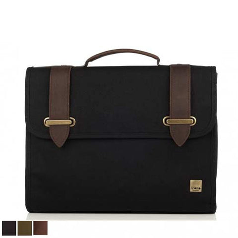 Knomo Padstow Slim Canvas Satchel Briefcase