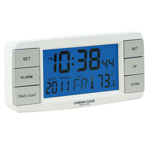 Alarm Clock - Signal Temperature/Calender Display 11cm - London Clock Company