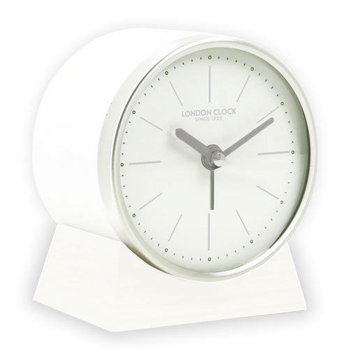 Alarm Clock - Skarp White 25cm - London Clock Company