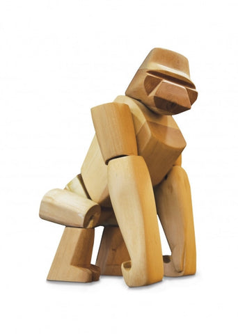 Areaware Wooden Animals - Hanno The Gorilla