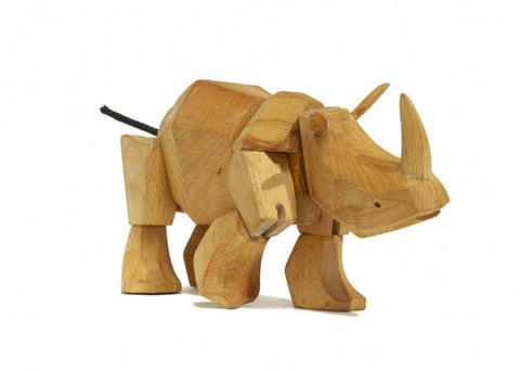 Areaware Wooden Animals - Simus the Rhino