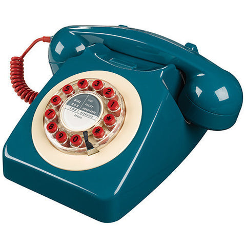 Wild and Wolf 746 Desk Telephone - Petrol Blue