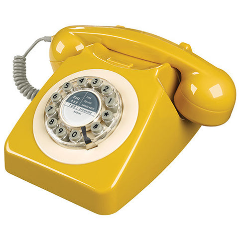 Wild and Wolf 746 Desk Telephone - Mustard