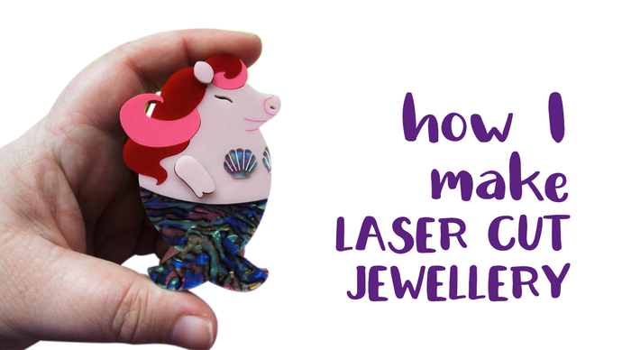Watch me make my laser cut acrylic jewellery.