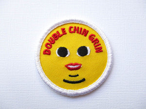 Girth Guides Double Chin Grin, Fat Activist Patch