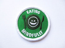 Girth Guides Eating Mindfully, Fat Activist Patch