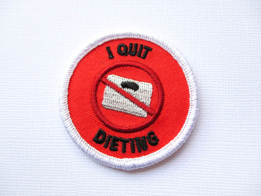 Girth Guides I Quit Dieting, Fat Activist Patch