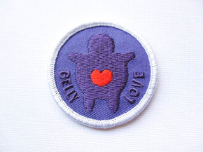 Girth Guides Belly Love, Fat Activist Patch