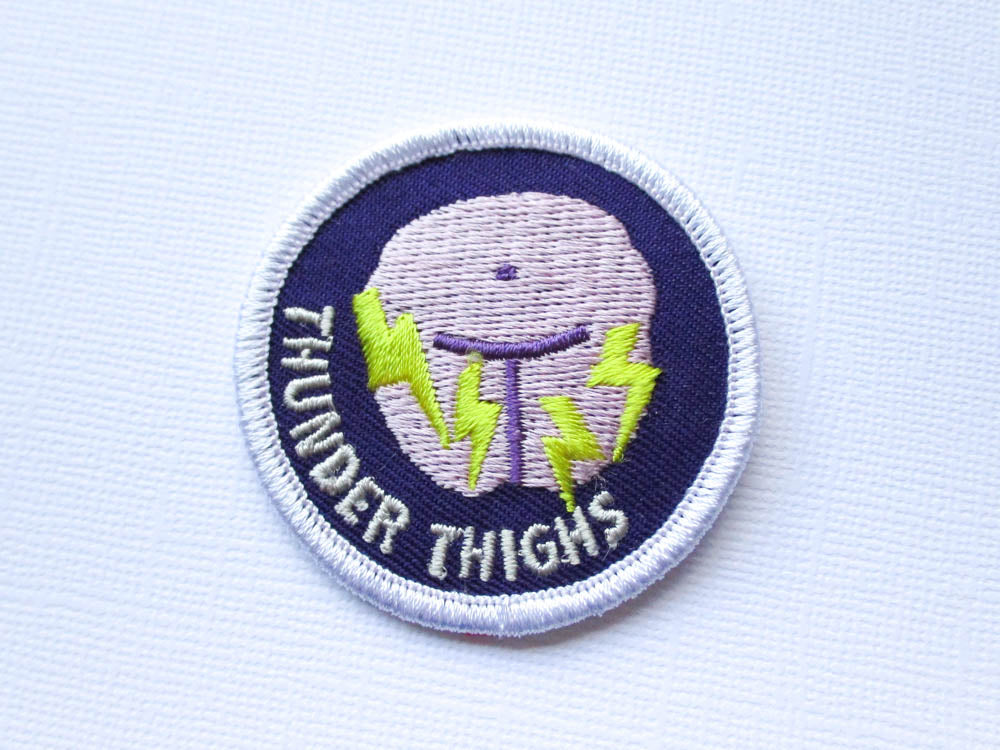 Girth Guides Thunder Thighs, Fat Activist Patch