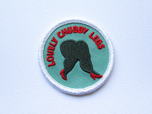 Girth Guides Lovely Chubby Legs, Fat Activist Patch