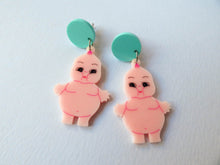 Chubby Kewpie Dangle Acrylic Earrings